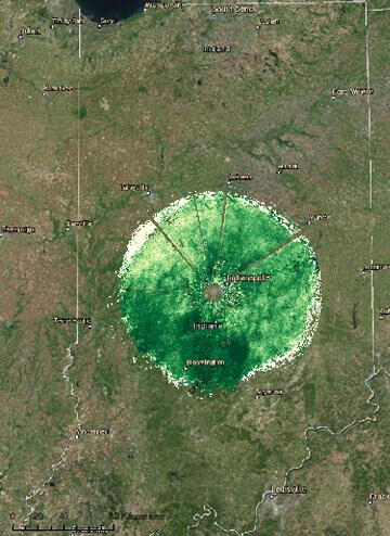 Processed radar data
