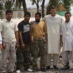 Lomont with six local men