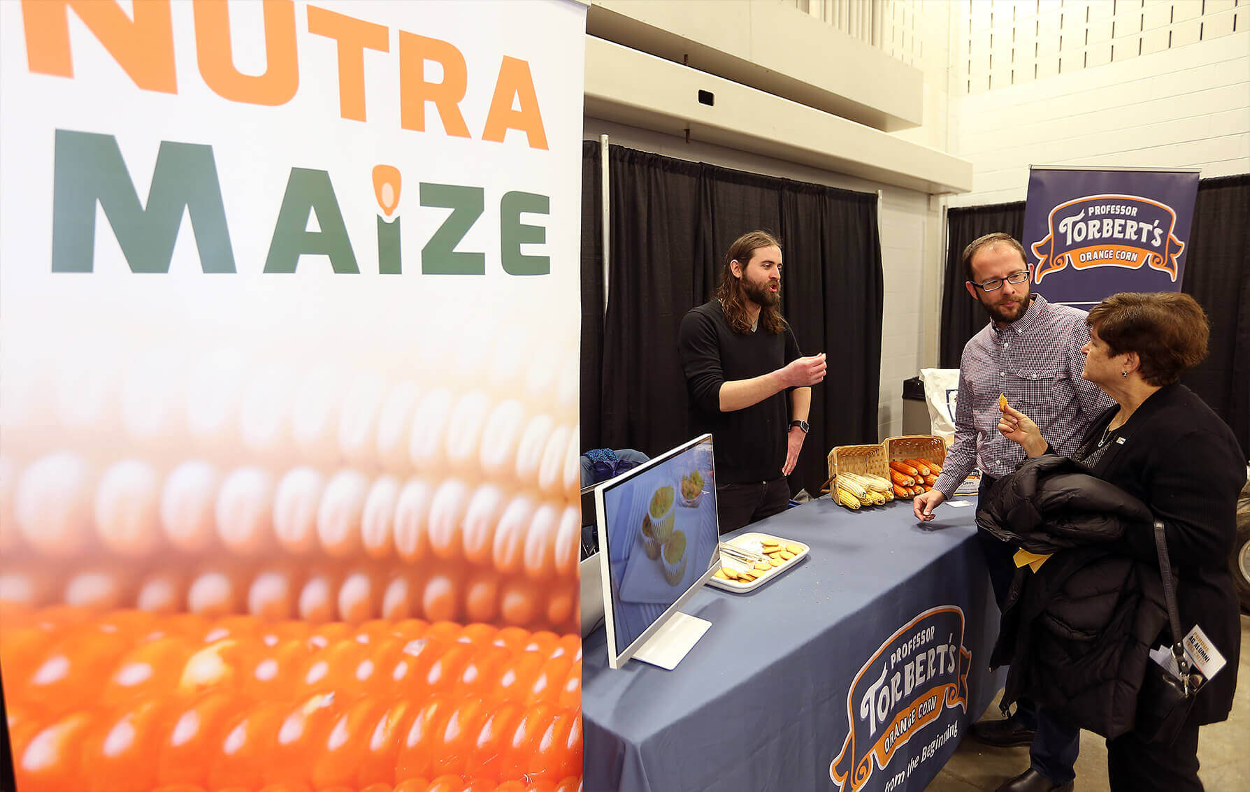Evan Rocheford at the NutraMaize booth