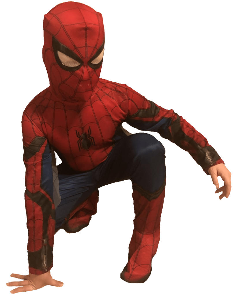 Spiderman crouched