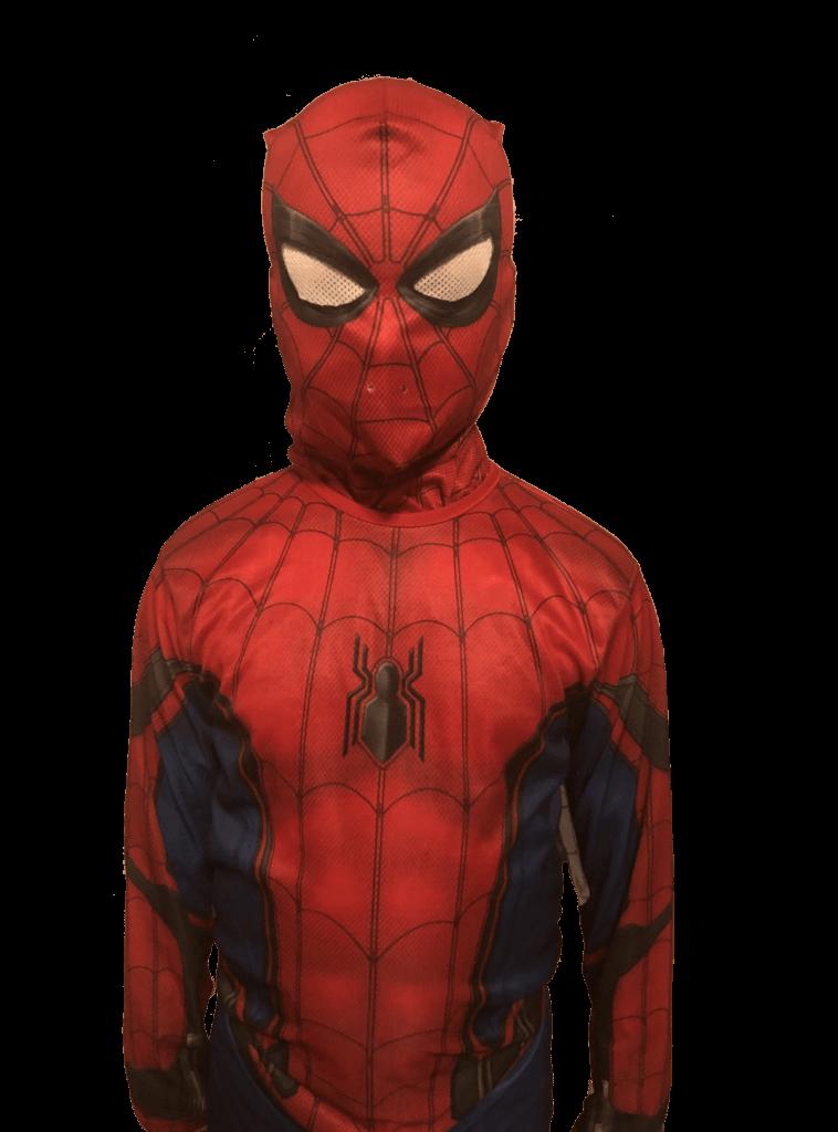 Spiderman standing up
