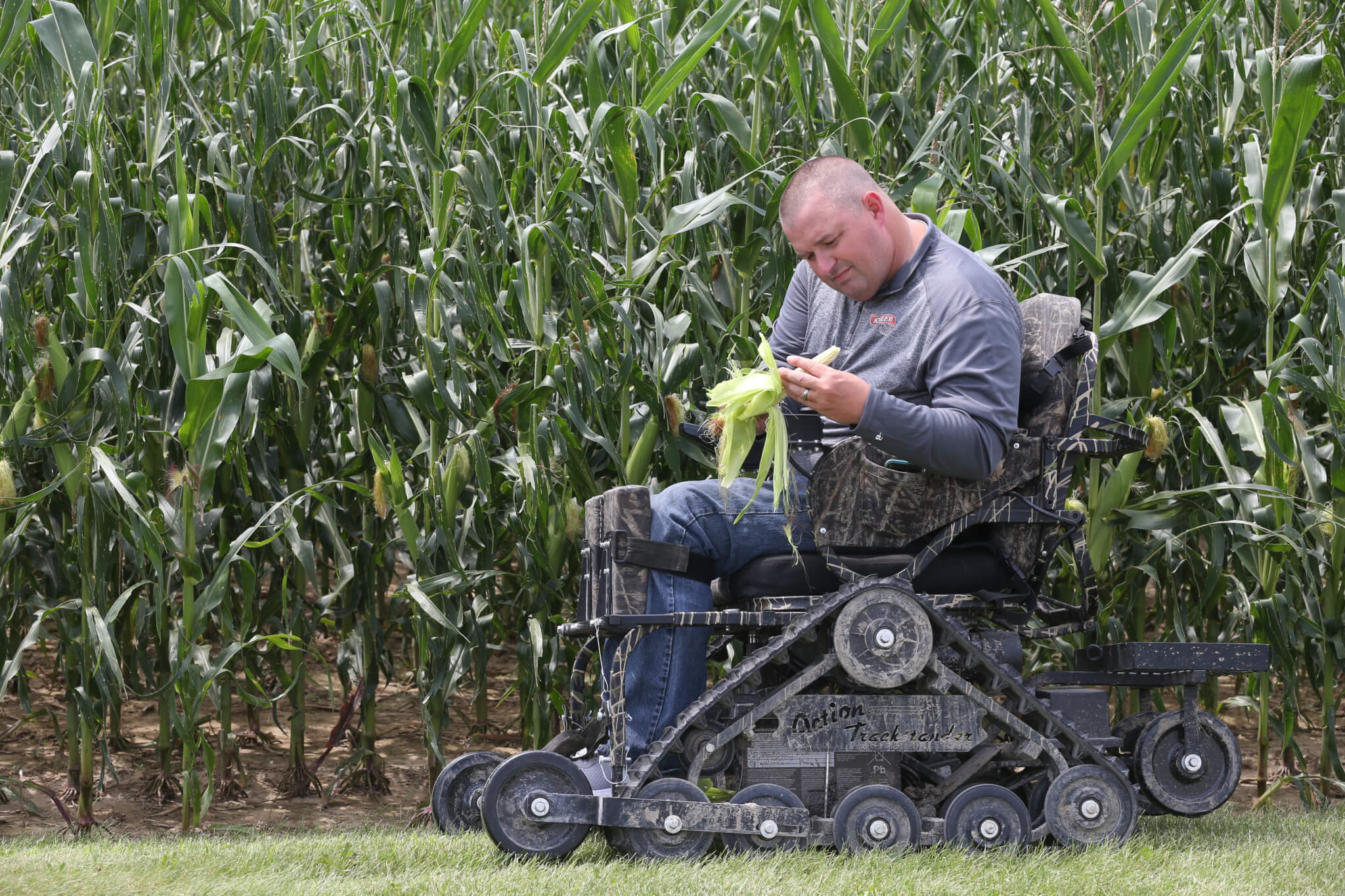 Justin is a disabled farmer who farms over 3,000 acres of ground in Huntington County, with the help of Purdue Extension and AgrAbility.
