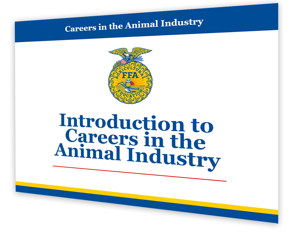 A slide from the careers with animals resources