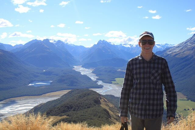 Study Abroad Man on a mountain