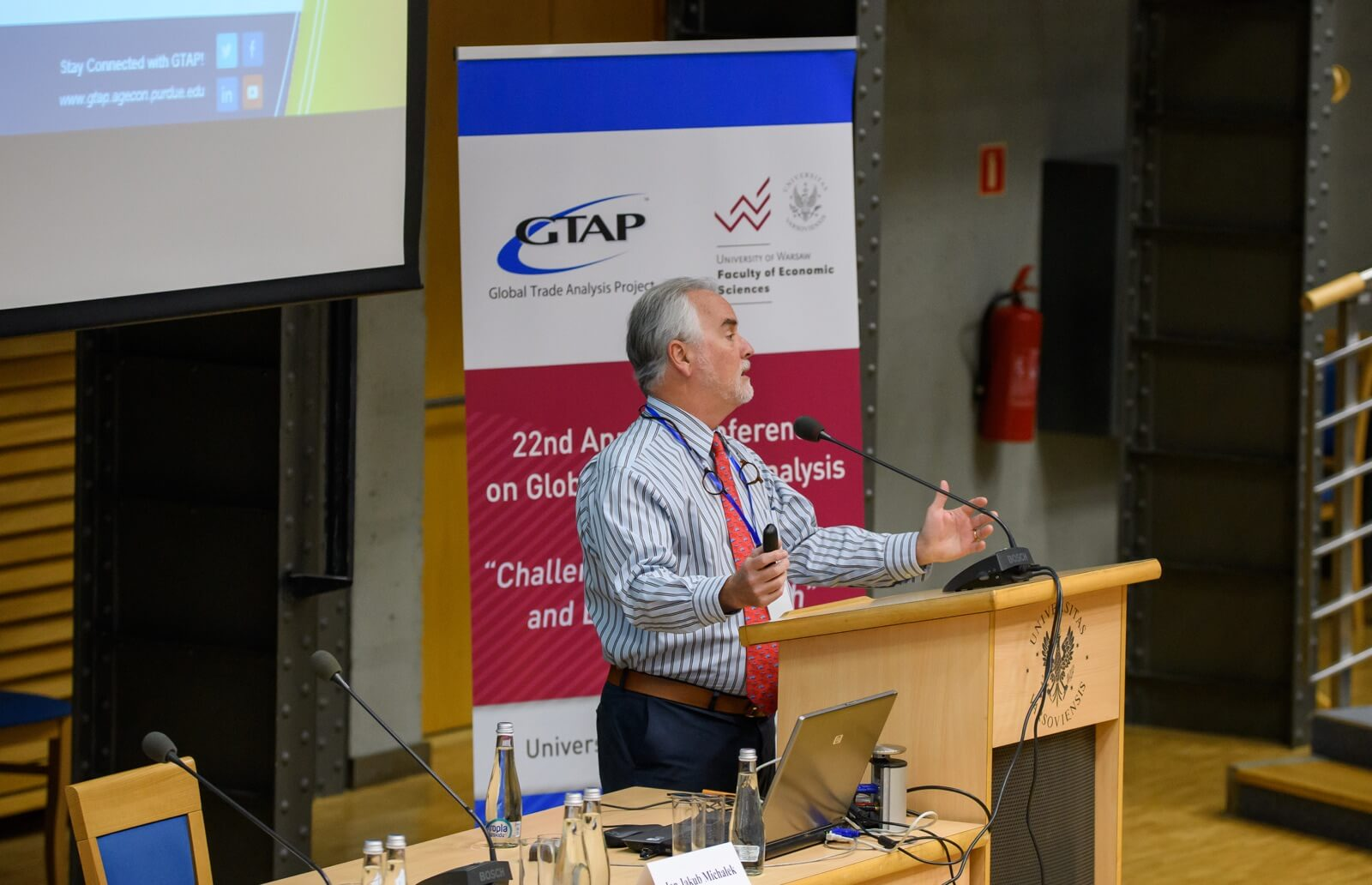 Dominique van der Mensbrugghe presenting at the recent GTAP conference