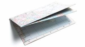 A folded map