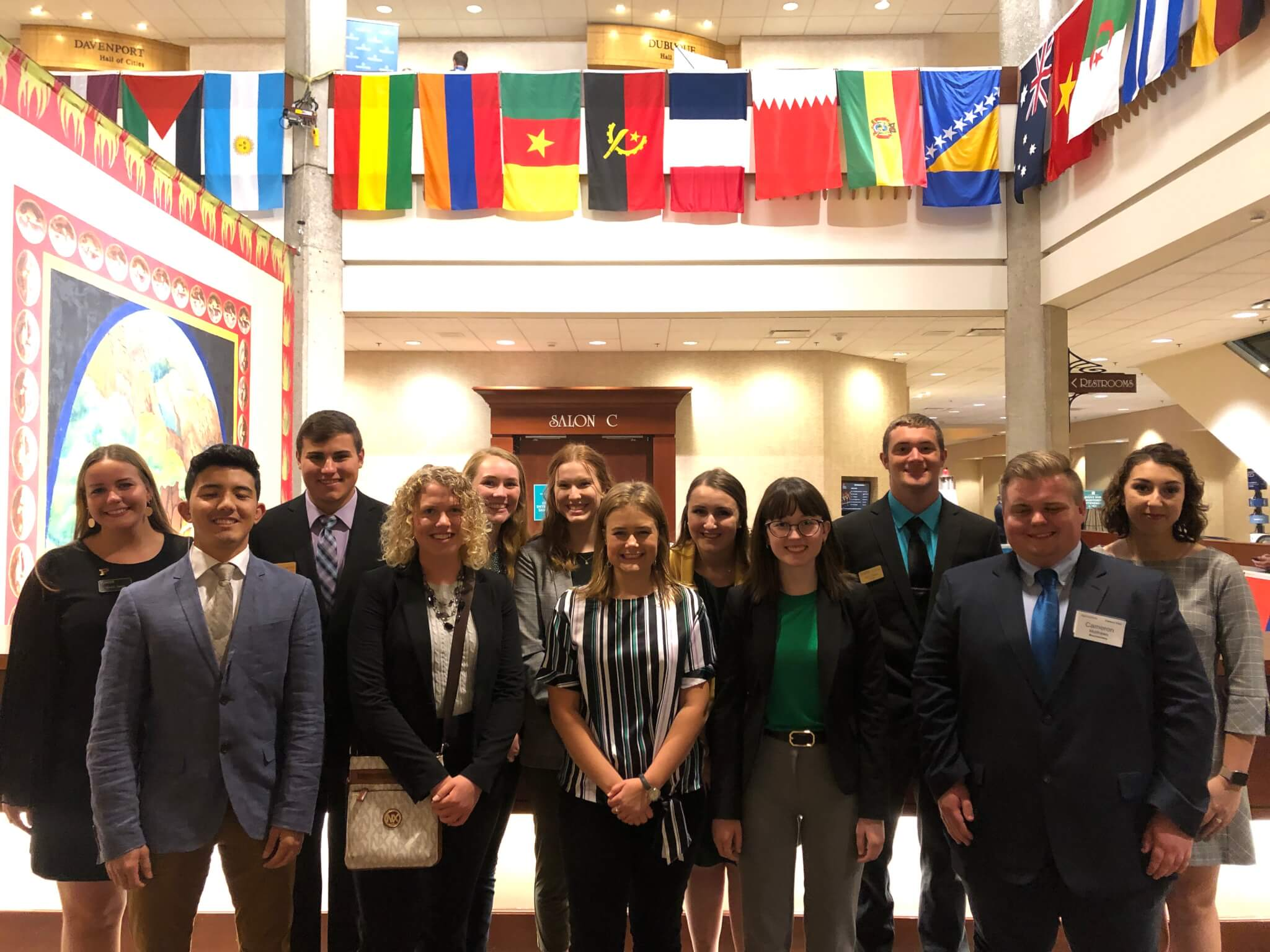 The group of students from Purdue's College of Agriculture that attended the Borlaug Dialogue in October.