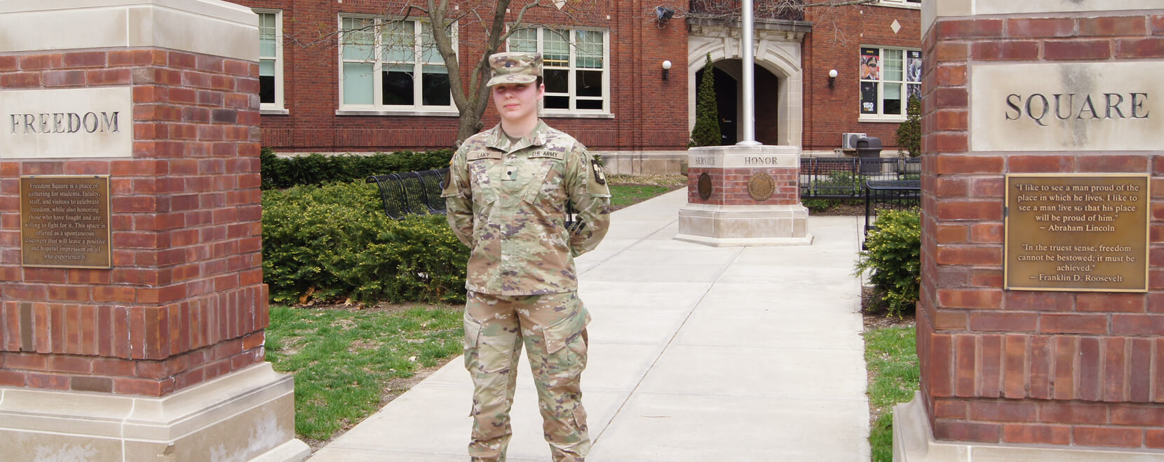 Student cadet serves double duty
