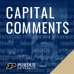 Capital Comments Podcast Logo with Purdue 2020 Brand