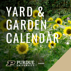Yard and Garden Calendar Column Logo with Purdue 2020 Brand