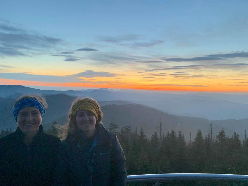 Baleigh and Rebekah at Clingmans Dome