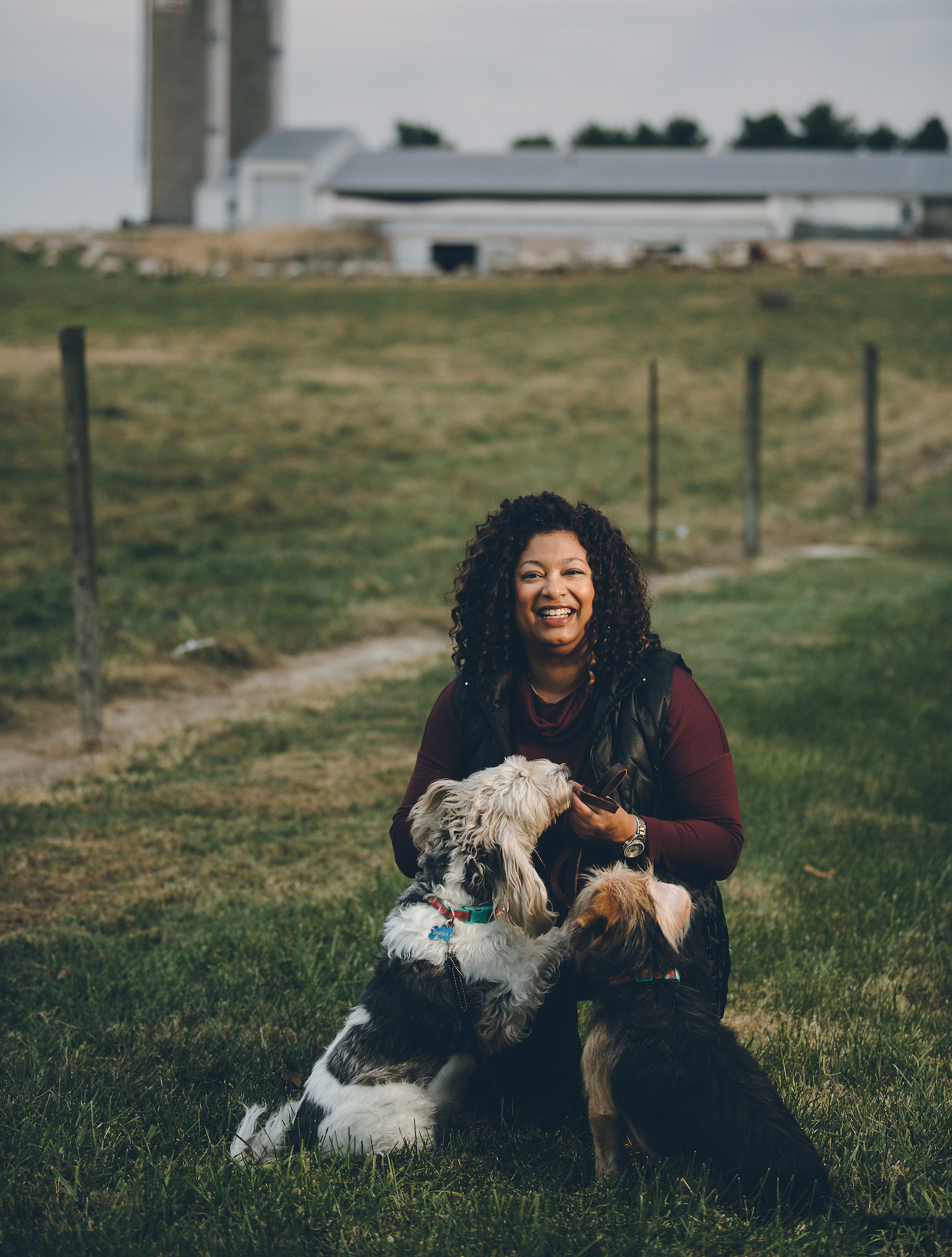 Purdue professor Candace Croney with dogs