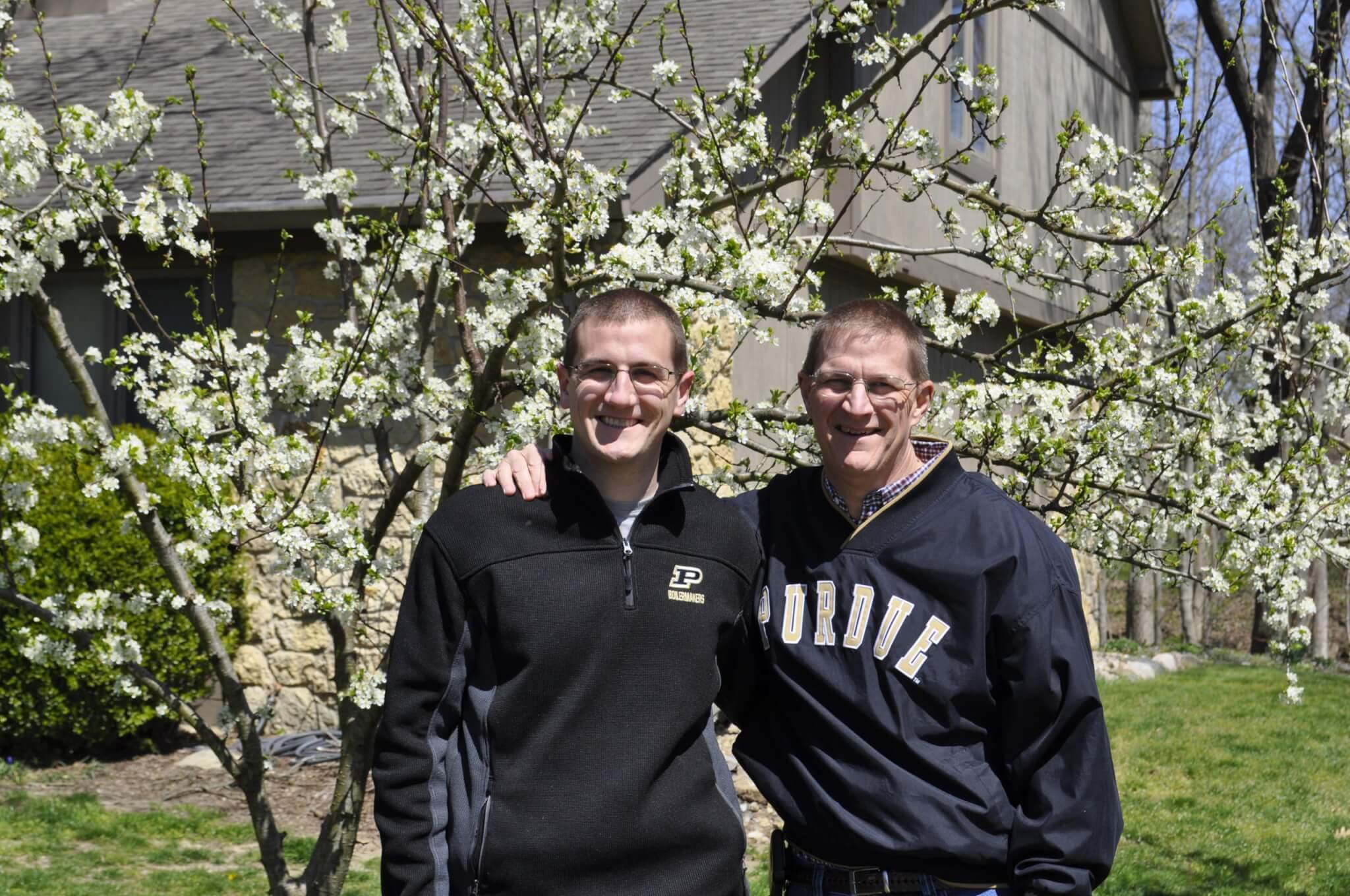 Stephen Schwartz with his father