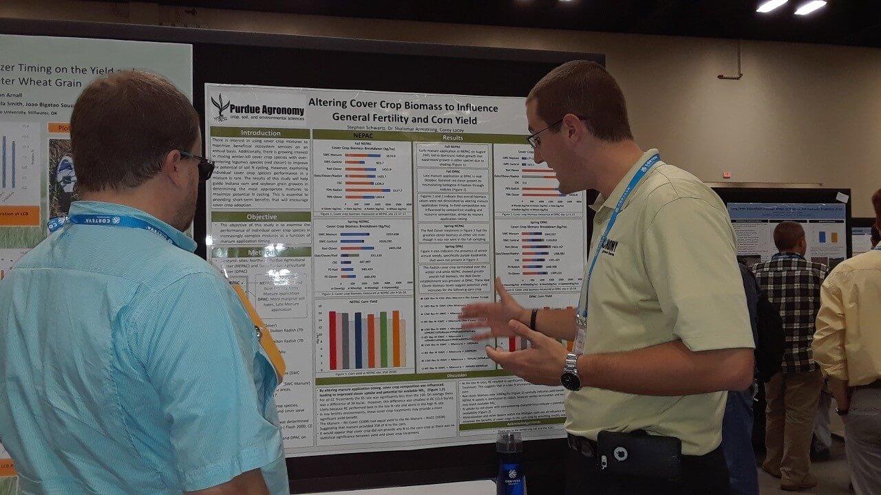 Schwartz presenting research