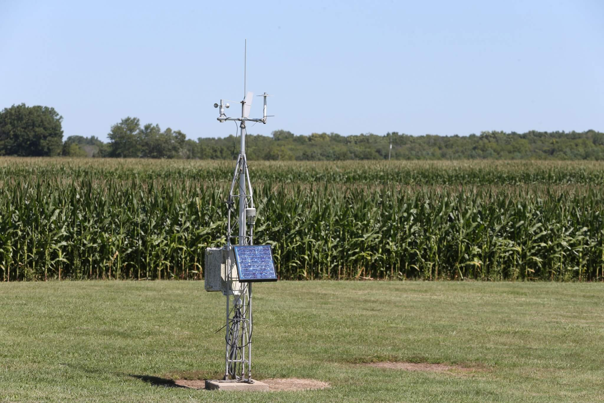 Weather station at the Davis Purdue Agricultural Center