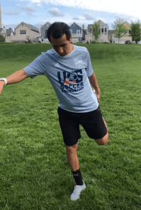 Coach Paco from Metropolitan Soccer has a soccer video series, which includes warm-up instructions.