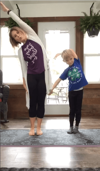 A 4-H educator offers yoga classes for followers at home.