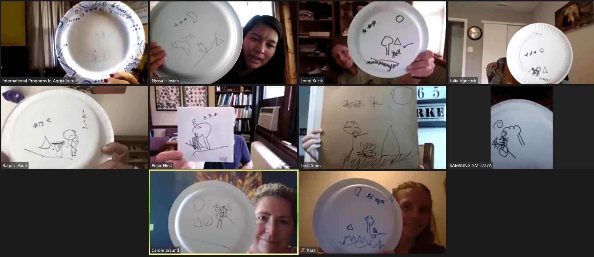 IPIA Group playing Head Drawing