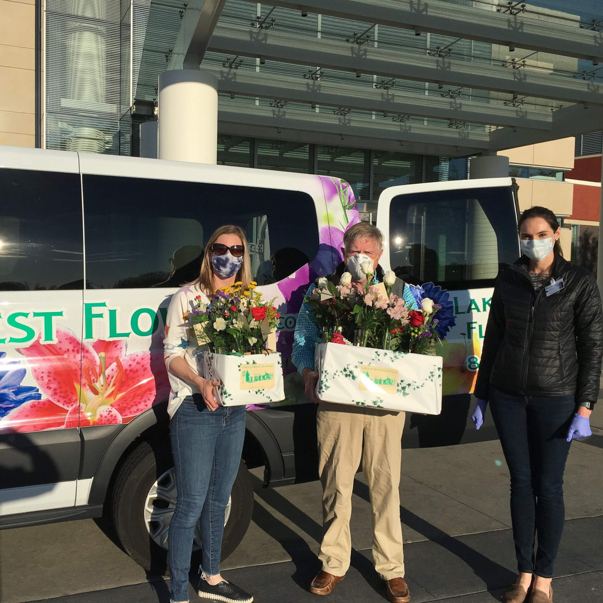 We donated flowers to the Northwestern Lake Forest Hospital nurses in honor of Nurses week in May