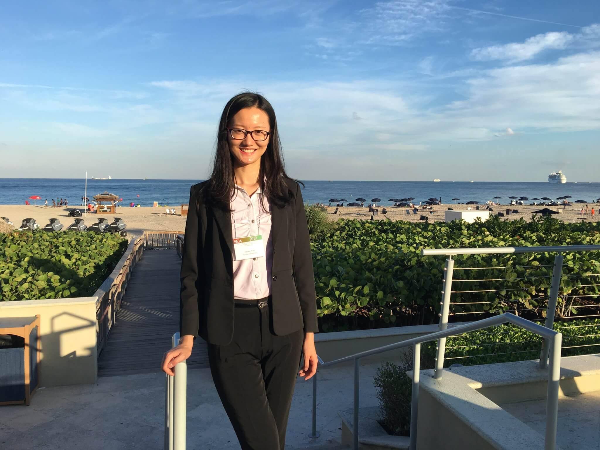Yao by a beach
