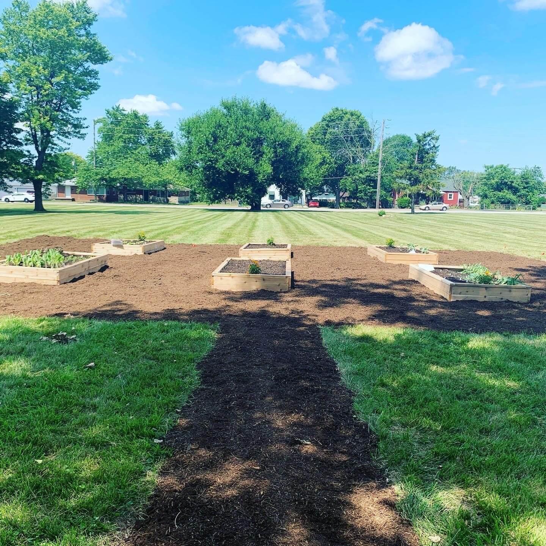 View of community garden