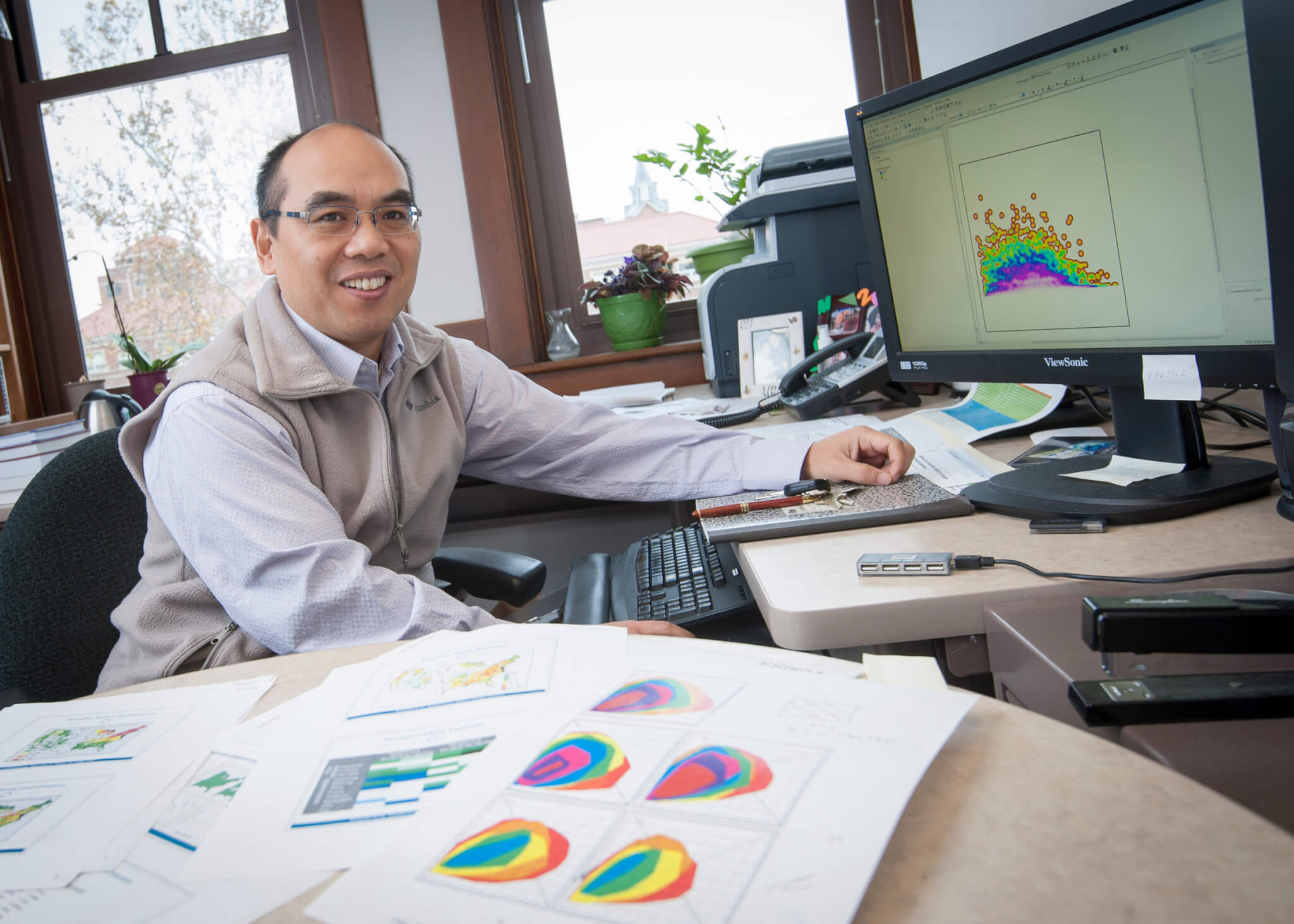 Songlin Fei has been a pioneer in the use of remote sensing in digital forestry efforts at Purdue University. (Purdue Agricultural Communication photo)