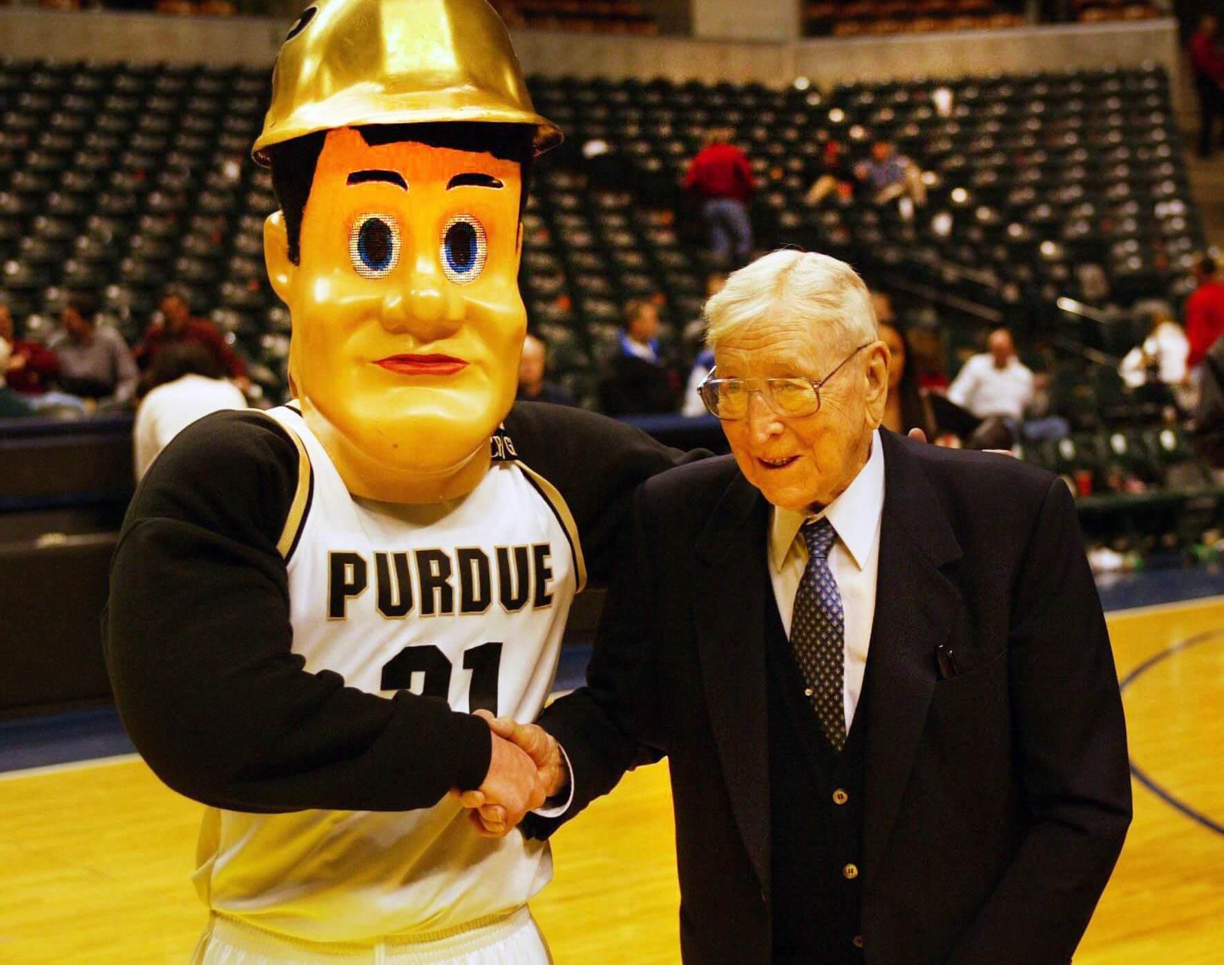 Purdue Pete and John Wooden