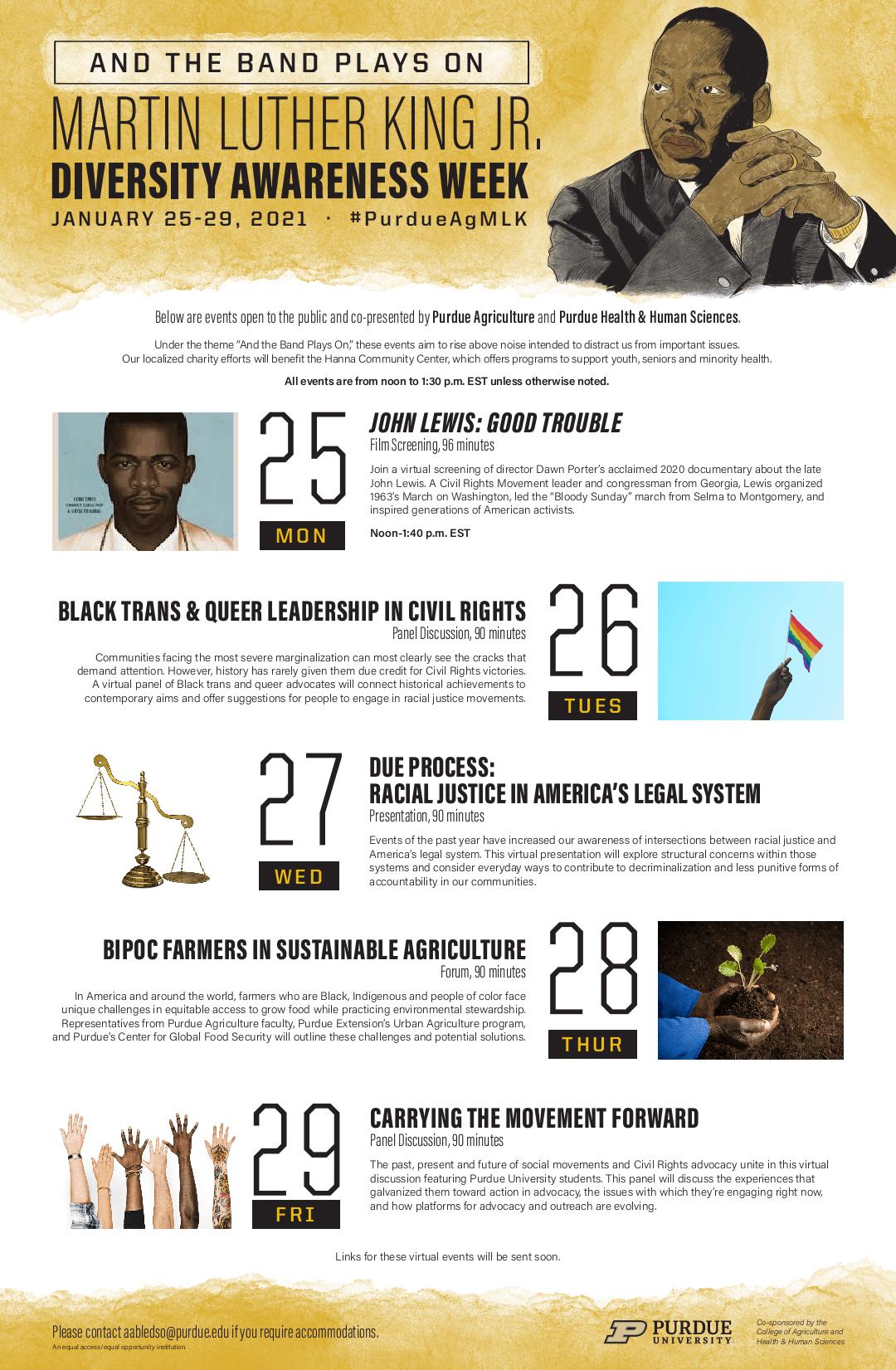 MLK Jr. Week schedule