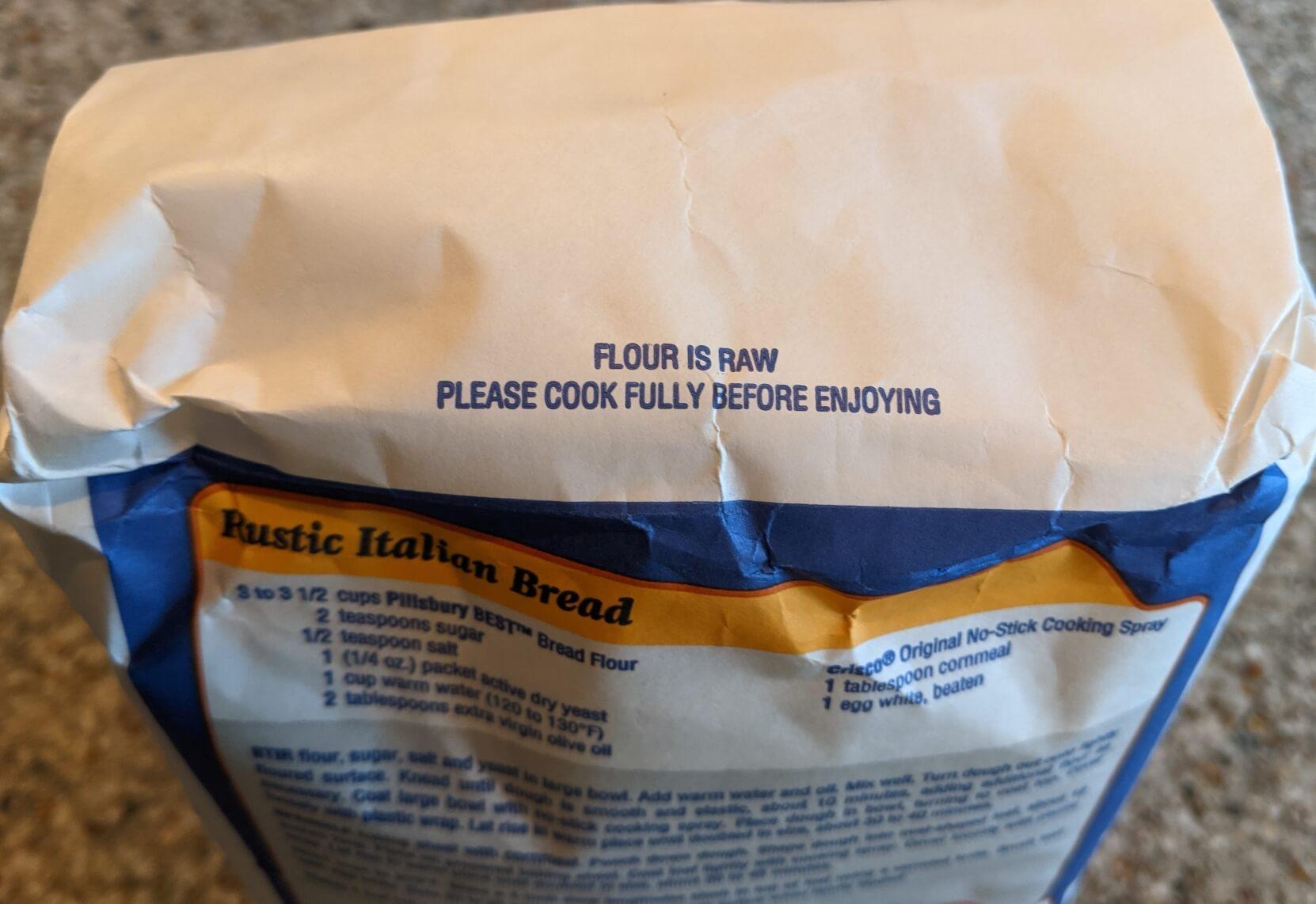 Flour warning