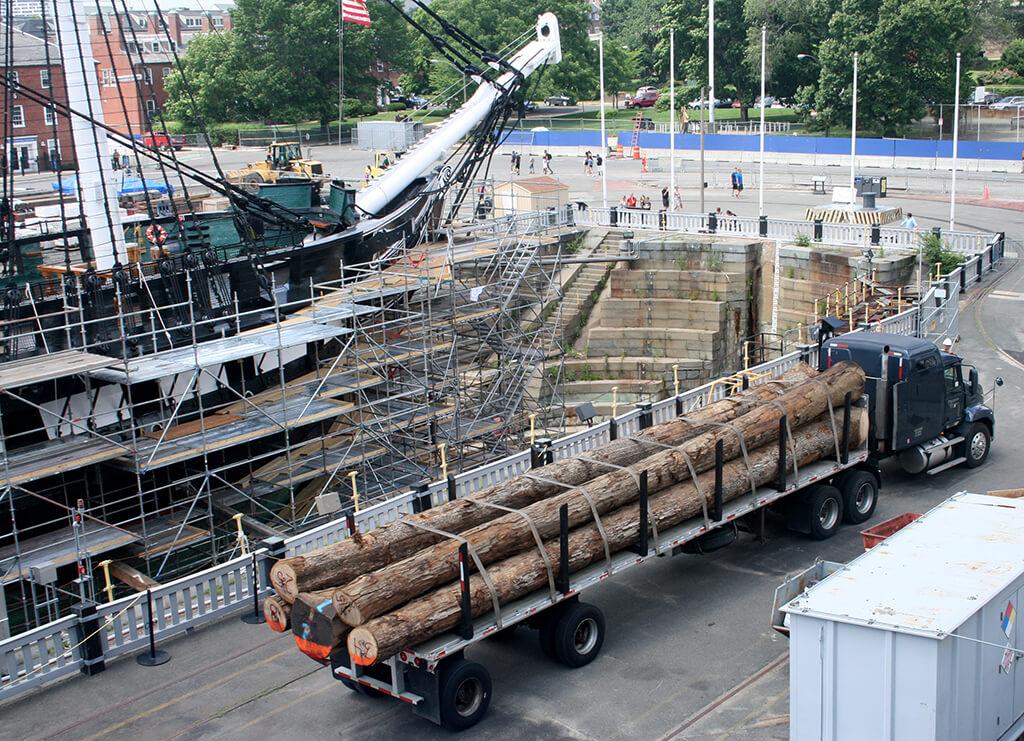 Shipment of wood