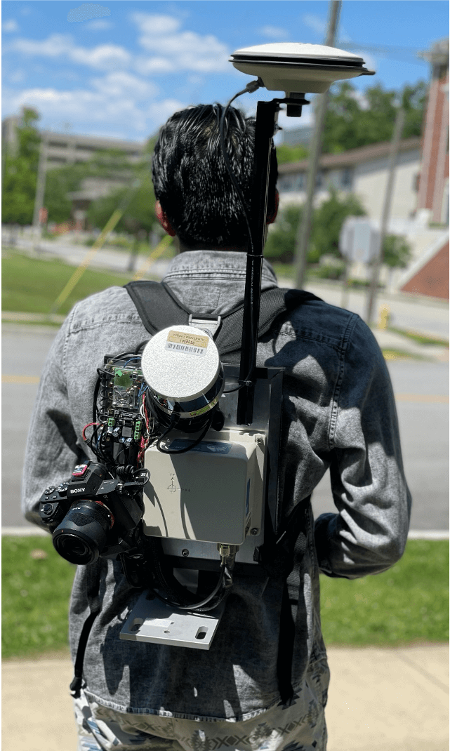 Backpack sensing platform developed by the Digital Photogrammetry Research Group.