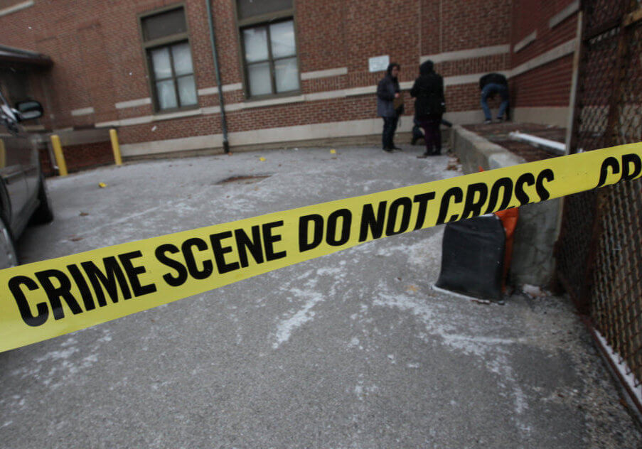 Police Tape at a sample crime scene